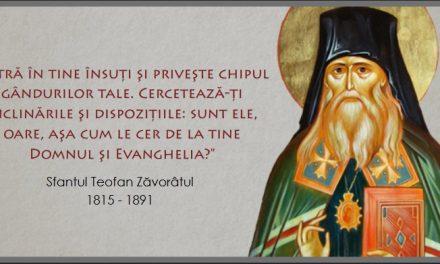 """""""Să nu credeți că, împlinind cu exactitate și după tipic canonul vostru zilnic, faceți ceva important!"""" – Sfântul Teofan Zăvorâtul"""