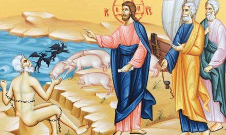 Predica Părintelui Ieronim la Duminica a 23-a după Pogorârea Sfântului Duh (Vindecarea demonizatului din ținutul Gherghesenilor)