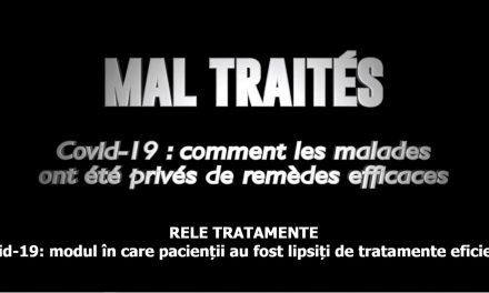 """""""Mal Traites"""" (""""Rele tratamente"""") – un documentar despre marea manipulare sau despre cum au fost privati oamenii, de tratamente eficiente – acum și în limba română. Recomandați-l tuturor celor de care vă pasă!"""