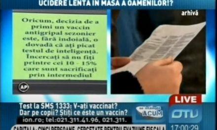 Vaccinurile – un plan diabolic de ucidere lentă în masă a oamenilor!? Înregistrare video din anul 2012!