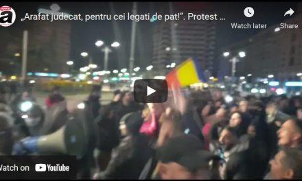 Proteste în București, Timișoara, Arad, Cluj, Alba, Sibiu, Brașov, Pitești, Ploiești, Brăila, Galați, Constanța, Focșani, Craiova. Se scandează JOS ARAFAT! LIBERTATE! JOS MASCA! Luni la 5 jumate, din nou la Universitate!