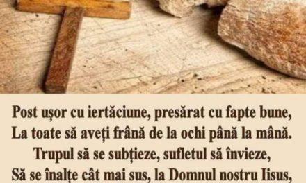 Post cu mult folos duhovnicesc tuturor!   Sfântul Ioan Gură de Aur – despre post