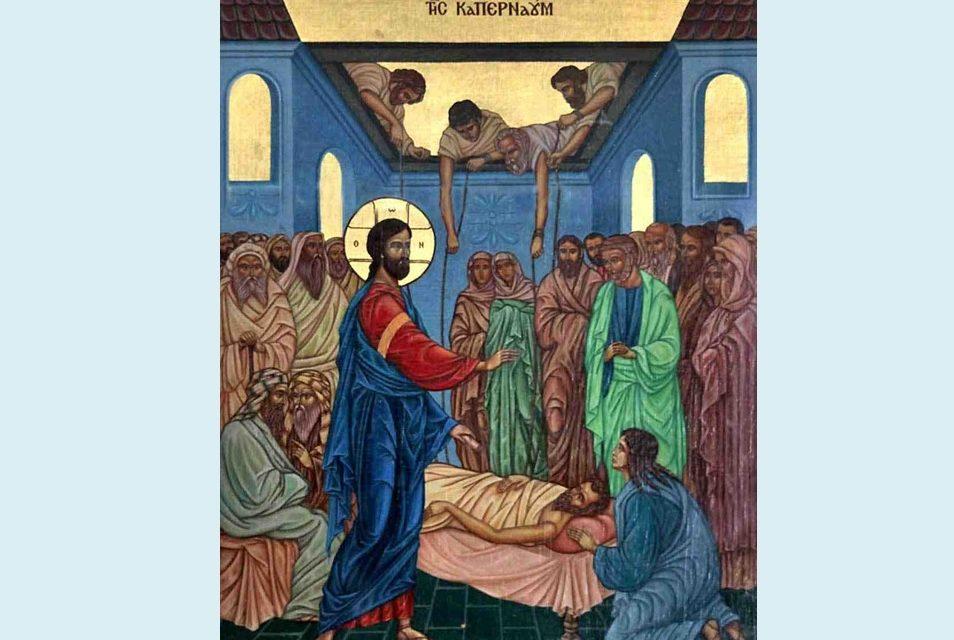 """Lămurirea pentru ultima dată a problemei visarioniste și a """"rebotezării"""" celor botezați de ecumeniști prin stropire sau turnare. Predica părintelui Andrei la Vindecarea slăbănogului din Capernaum – 1 august 2021"""
