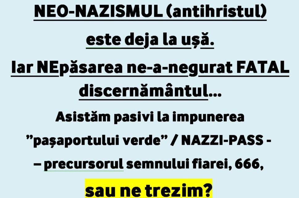 """NAZIPASS OBLIGATORIU. Așa-zisul """"pașaport verde"""", precursorul semnului fiarei – 666, în curând se va extinde și în România și în toată lumea !…"""