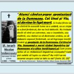 """UN POPOR CARE APOSTAZIAZĂ  DEVINE MORT"" – Sf. Nicolae Velimirovici"